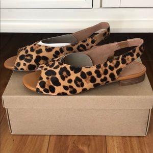 Madewell Leopard Calf Hair Slingbacks - NWT!!